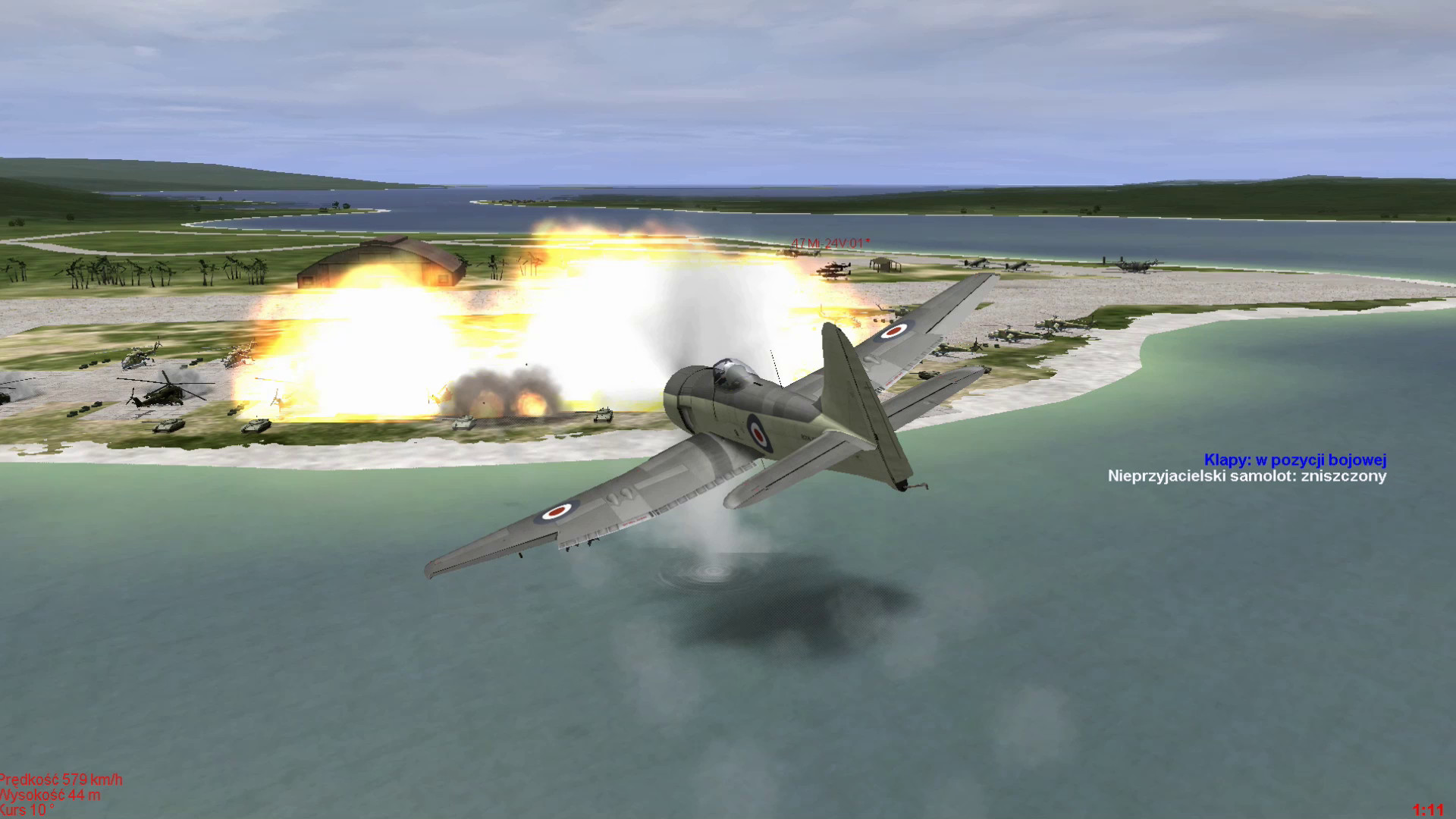 Hawker Sea Fury versus Heli Base